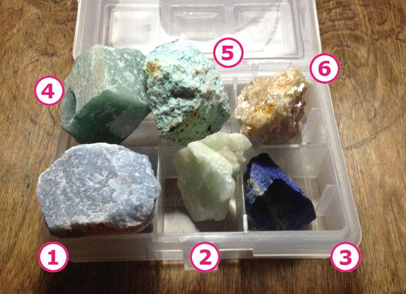 La collezione di minerali grezzi di Chiara
