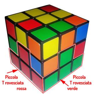 cubo di Rubik: le piccole T rovesciate