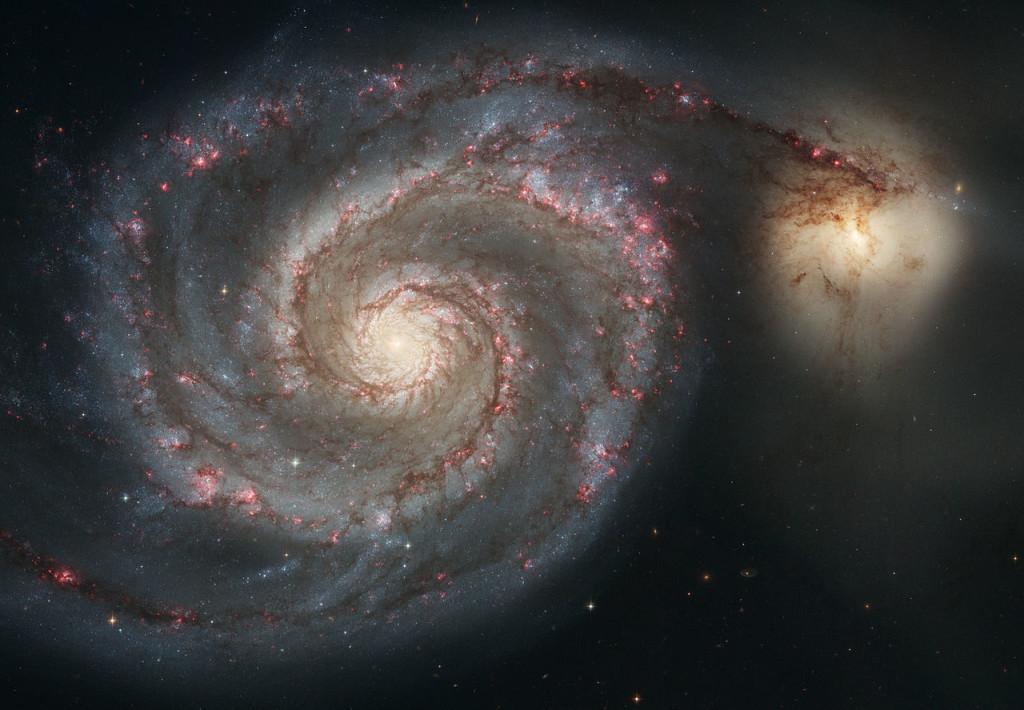 La galassia NGC 5195